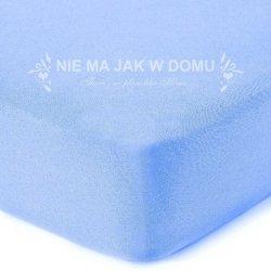 Prześcieradło frotte z gumką - niebieskie