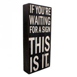 Dekoracja / tablica - SIGN