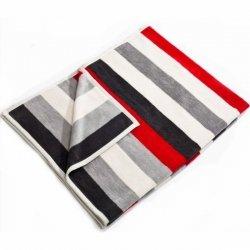 Koc Moca Design Stripes - czerwony