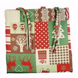 Poduszka na krzesło - Christmas - zielona