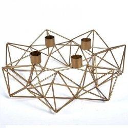 Świecznik Belldeco Gold Line - Geometric - 30 cm