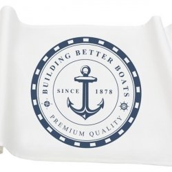 Bieżnik French Home - Marynarski Anchor M - biały
