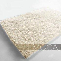 Dywanik łazienkowy Moca Design - Frame - ecru
