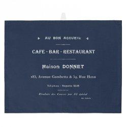 Ścierka kuchenna French Home - Cafe Bar - granatowa