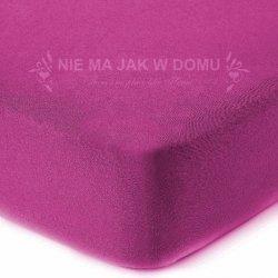 Prześcieradło frotte z gumką - różowe fuksja