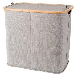 Kosz na pranie Möve - Bambus + Canvas - dwukomorowy