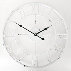Zegar Old Style - 45 cm - biały