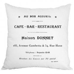 Poduszka French Home - Cafe Bar - biała