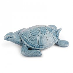 Dekoracyjna figurka - Żółw - niebieski