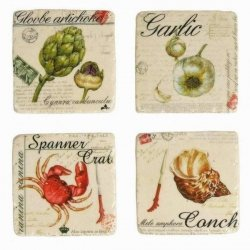 Podkładki ceramiczne Belldeco Retro - Lunch