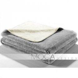 Koc Moca Design Doubleface - ecru + szary