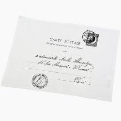 Serweta / podkładka French Home - Carte Postale - biała