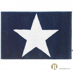 Dywanik łazienkowy Rhomtuft - STAR - biało-granatowy