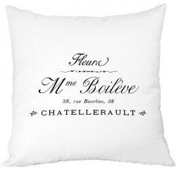 Poduszka French Home - Madame - biała