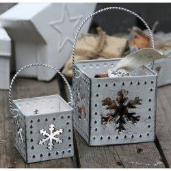 Lampiony Chic Antique - Śnieżynka - 2szt.