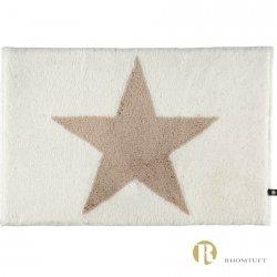 Dywanik łazienkowy Rhomtuft - STAR - beżowo-biały