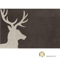 Dywanik łazienkowy Rhomtuft - Lord - beżowo-brązowy