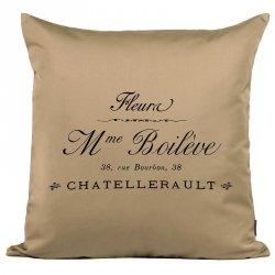 Poduszka French Home - Madame - beżowa