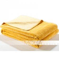 Koc Moca Design Doubleface - żółty