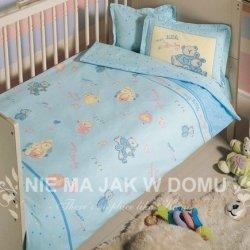 Pościel niemowlęca Tac Bio My Little Baby - niebieska - 4 elem.