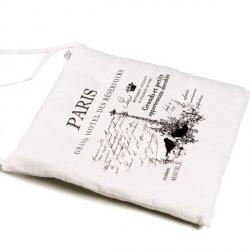 Poduszka na krzesło French Home - Paris - biała