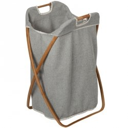 Kosz na pranie Möve - Bambus + Canvas - składany