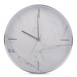 Zegar Marble - biały - 30,5 cm