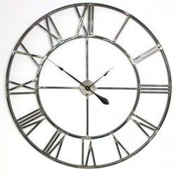 Zegar Old Style XXL - 100 cm - stalowy
