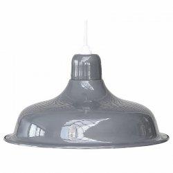 Lampa sufitowa Chic Antique - ENAMEL - szara