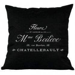 Poduszka French Home - Madame - czarna