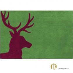 Dywanik łazienkowy Rhomtuft - Lord - bordowo-zielony