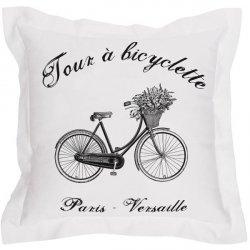 Poduszka dekoracyjna French Home - Bicyclette - biała