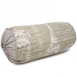 Poduszka dekoracyjna wałek PARIS - beżowa
