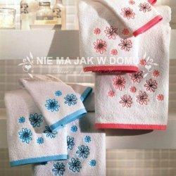 Komplet ręczników Tac - Pink Flowers - 3 szt. - różowy niebieski