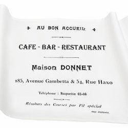 Bieżnik French Home - Cafe Bar M - biały