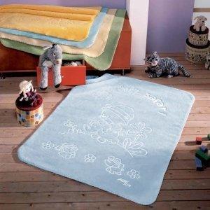 Kocyk Piel - Baby Safari 80x110 cm - niebieski