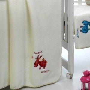 Kocyk Mora Petits - Sweet Winter - czerwony