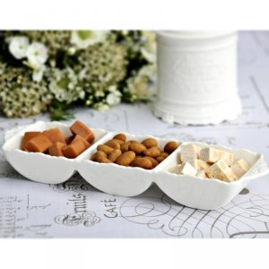 PROVENCE CHIC - salaterka trójdzielna