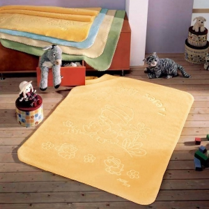 Kocyk Piel - Baby Safari 80x110 cm - żółty