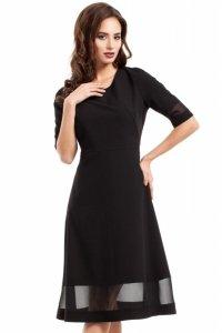 MOE272 sukienka czarna
