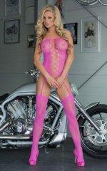 Floweret - Neon Pink 6268 bodystocking