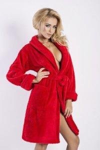 Szlafrok Eliza czerwona