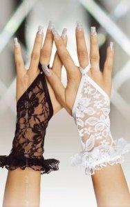 Gloves 7707 - white rękawiczki