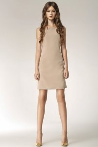 Sukienka - beż - S37