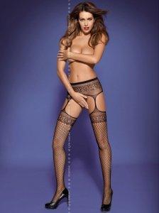 Garter stockings S502 czarne