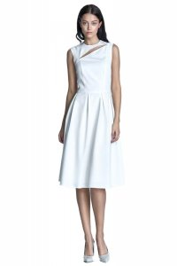 Sukienka midi - ecru - S73
