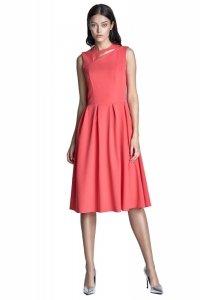 Sukienka midi - koral - S73