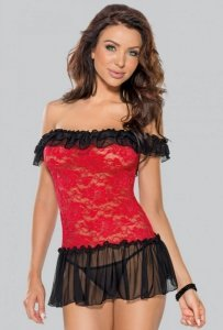 Sukienka + stringi 6562 czerwony