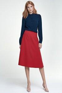 Klasyczna spódnica Midi - czerwony - SP30