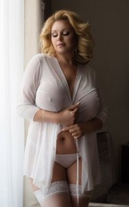 Pola - White 1861 peniuar i szorty plus size